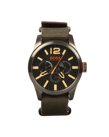 Boss Orange Mens Green Paris Woven Strap Watch