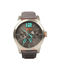 Boss Orange Mens Grey Paris Leather Strap Watch