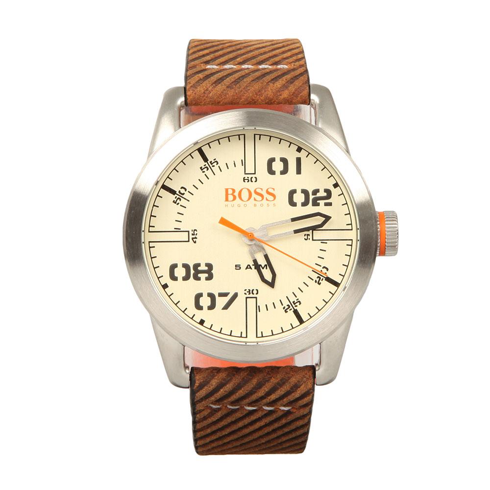 2849534a4c8 BOSS Orange Mens Brown Paris Leather Strap Watch