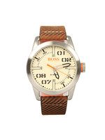 Casual Paris Leather Strap Watch