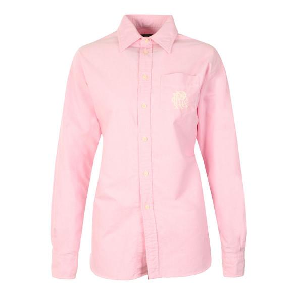 Polo Ralph Lauren Womens Pink Ellen Crest Shirt