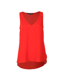 French Connection Womens Red Sania Plains Sleeveless Top