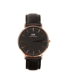 Daniel Wellington Unisex Black Classic Sheffield 36mm Watch