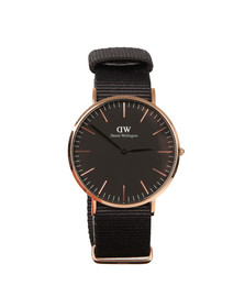 Daniel Wellington Unisex Black Classic Cornwall 40mm Watch