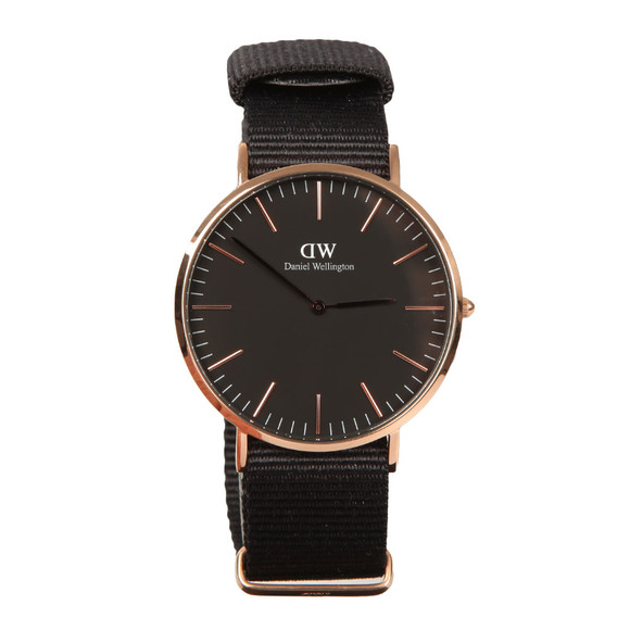 Daniel Wellington Unisex Black Classic Cornwall 40mm Watch main image