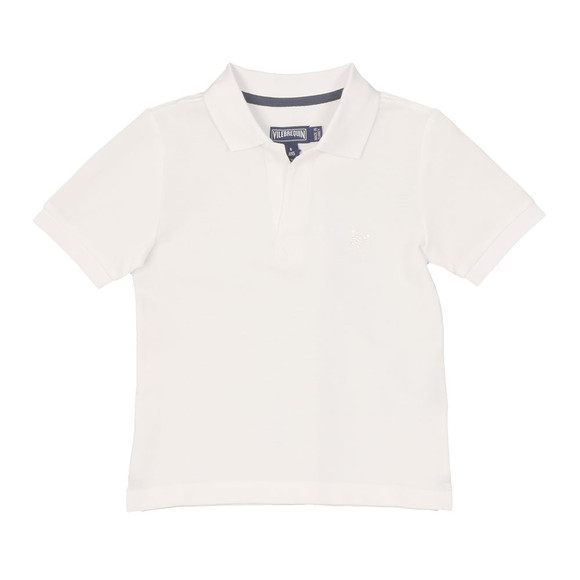 Vilebrequin Boys White Pantin Pique Polo Shirt main image