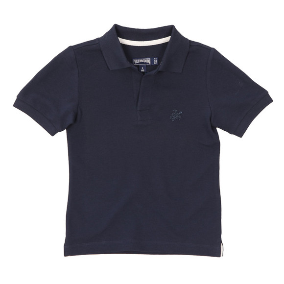Vilebrequin Boys Blue Pantin Pique Polo Shirt main image