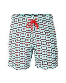 Vilebrequin Mens Blue Classic Style Fishnet Swim Short
