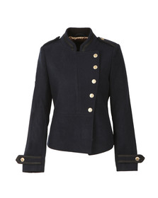 Maison Scotch Womens Blue Bell Boy Wool Jacket