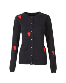 Maison Scotch Womens Blue Cardigan with Intarsia