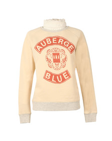 Maison Scotch Womens Off-White Vintage Inspired Sweat