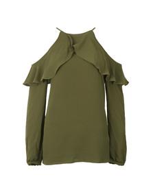 Michael Kors Womens Green Cold Shoulder Sleeveless Top