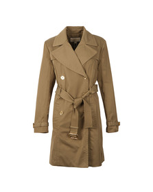 Michael Kors Womens Beige Pleated Trench