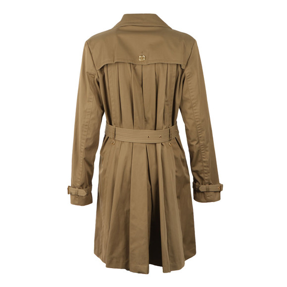 Michael Kors Womens Beige Pleated Trench main image
