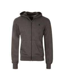 G-Star Mens Black Hooded Full Zip Sweat
