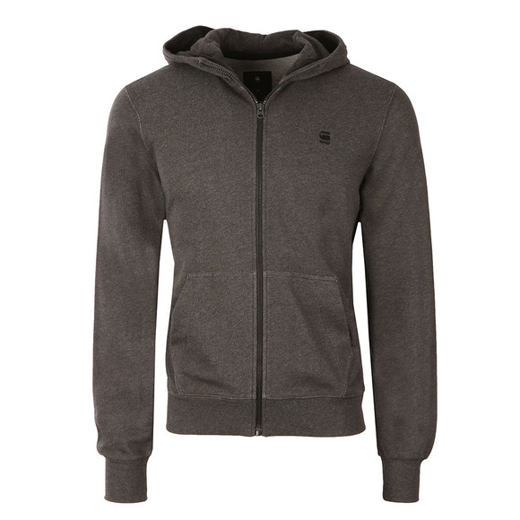 G-Star Mens Black Hooded Full Zip Sweat main image