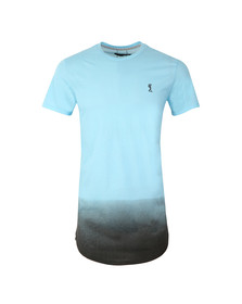 Religion Mens Blue Gradient Long Tee