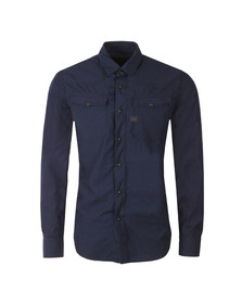 G-Star Mens Blue L/S 3301 Poplin Shirt