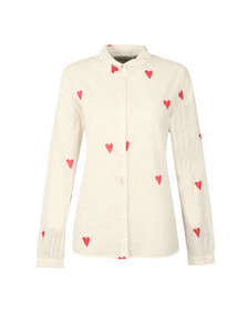 Maison Scotch Womens White Heart Print Shirt