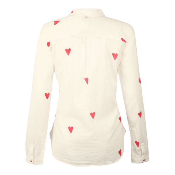 Maison Scotch Womens White Heart Print Shirt main image