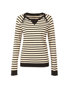 Maison Scotch Womens Black Fitted Jumper with Buttons