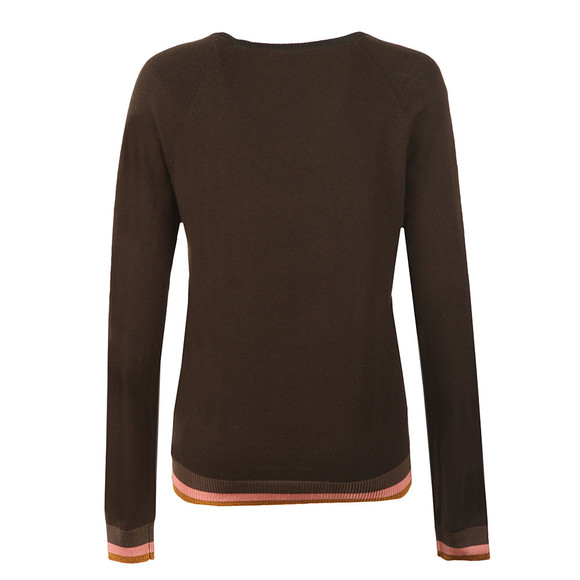 Maison Scotch Womens Green Fitted Jumper with Buttons main image