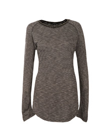 Maison Scotch Womens Black Longer Length Long Sleeve Tee