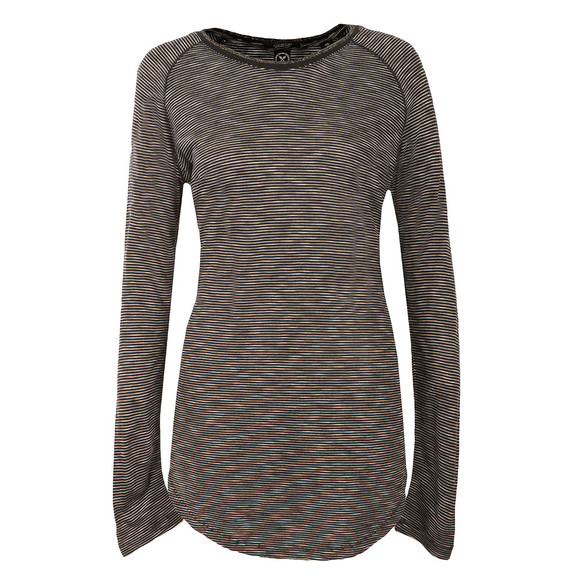 Maison Scotch Womens Black Longer Length Long Sleeve Tee main image
