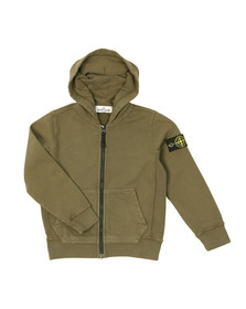 Stone Island Junior  Boys Green Full Zip Hoody