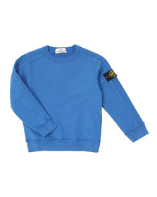 Stone Island Junior  Boys Blue Sleeve Badge Crew Neck Sweatshirt