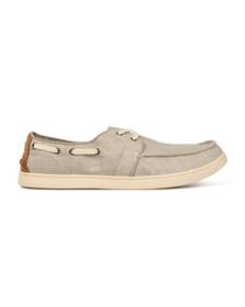 Toms Mens Off-white Culver Canvas Boat Shoe