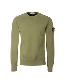 Stone Island Mens Green Sweat Top