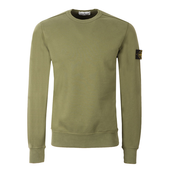 Stone Island Mens Green Sweat Top main image