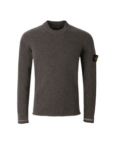 Stone Island Mens Grey Lambswool Crew Neck Jumper