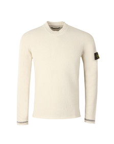 Stone Island Mens Off-white Lambswool Crew Neck Jumper