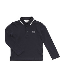 BOSS Bodywear Boys Blue Long Sleeve Polo Shirt