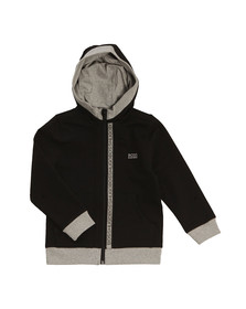 Boss Boys Black Boys Full Zip Logo Hooded Sweat
