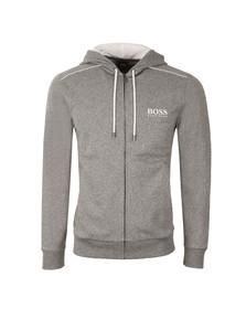 Boss Mens Grey Marl Full Zip Hoody