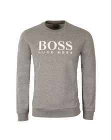 Boss Mens Grey Large Boss Logo Sweatshirt