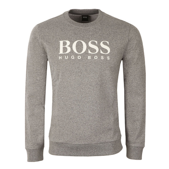 Boss Mens Grey Large Boss Logo Sweatshirt main image