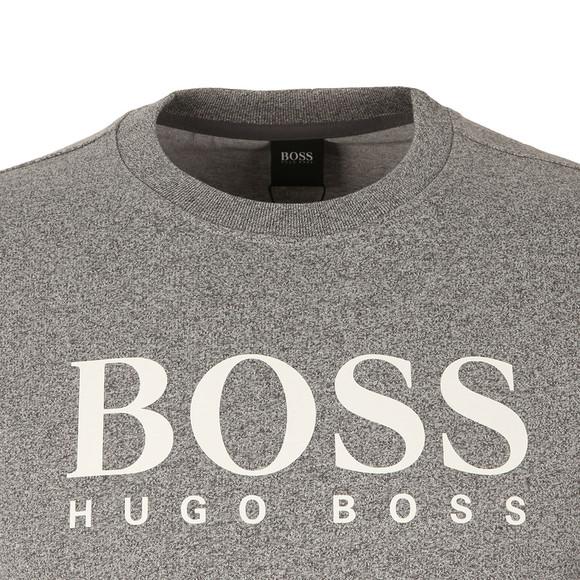 BOSS Bodywear Mens Grey Large Boss Logo Sweatshirt main image