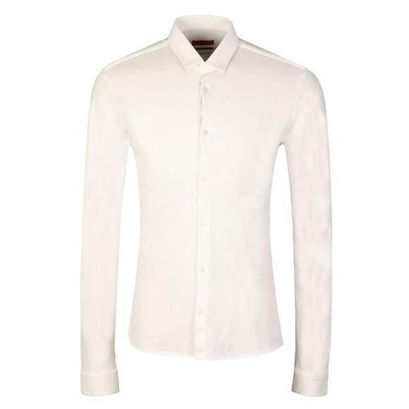 HUGO Mens White Ero3 Pique Shirt