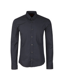 Hugo Mens Blue Ero3 L/S Patterned Shirt