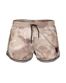 Good For Nothing Mens Beige Camouflage Swim Shorts