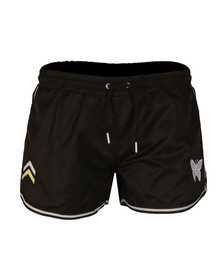 Good For Nothing Mens Black Military Swimshorts