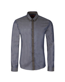 Hugo Mens Blue Egberto Shirt