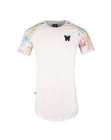Good For Nothing Mens White Botanic Raglan T Shirt