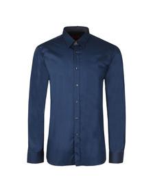 Hugo Mens Blue Elishan Slim Shirt