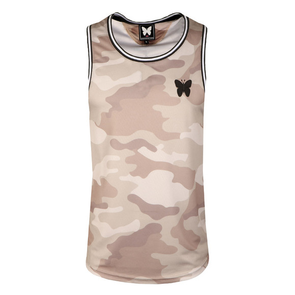 Good For Nothing Mens Grey Camouflage Vest main image