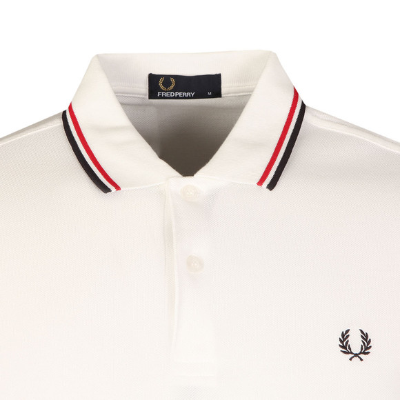 Fred Perry Mens White Twin Tipped Polo main image